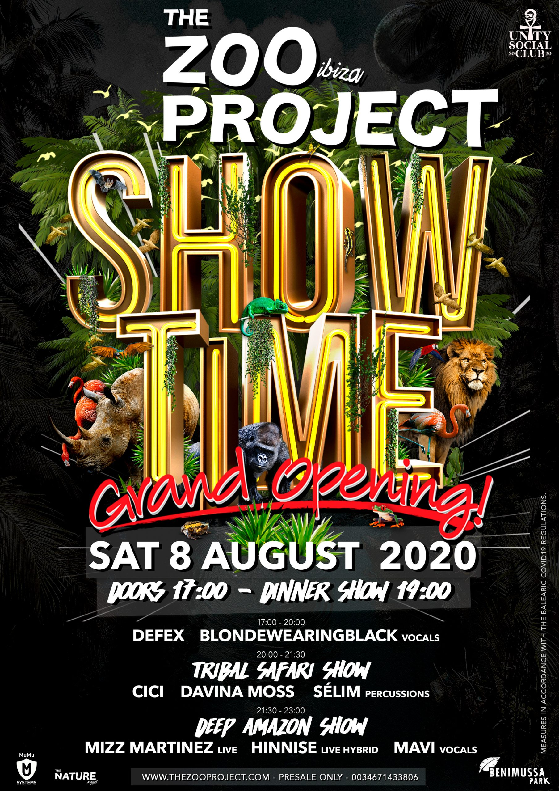 THE ZOO PROJECT SHOWTIME – Opening 8. August 2020